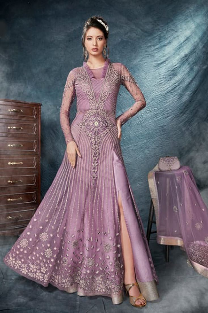 Celebrations Irresistible Light Purple  Colour Designer Indo Western Style